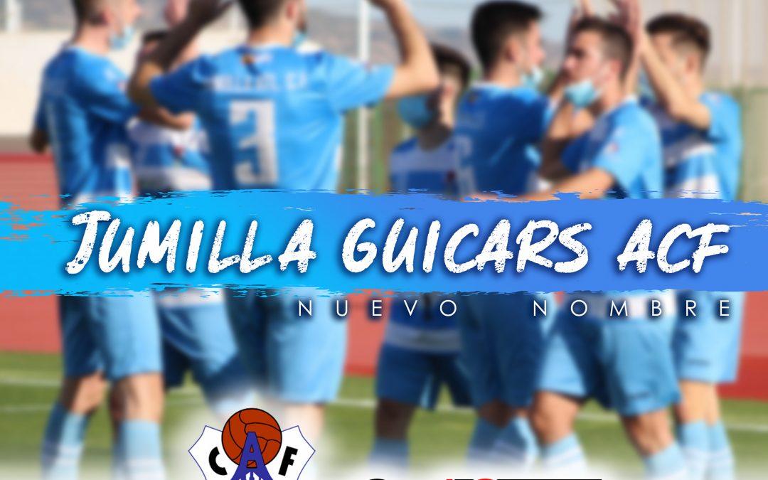 Desde hoy nuestro equipo Senior pasa a llamarse JUMILLA GUICARS ACF